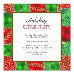 christmas holiday office party invitations 5 25 quot square invitation card zazzle