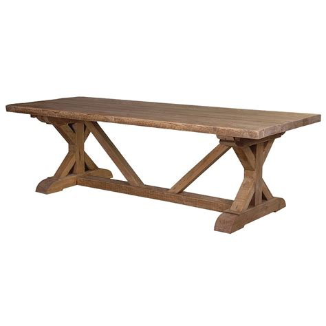 large wood dining table with bench large tavern dining table reclaimed wood rustic