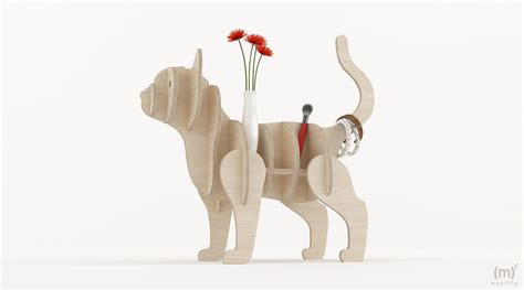 cat shelving wooden furniture dxf files