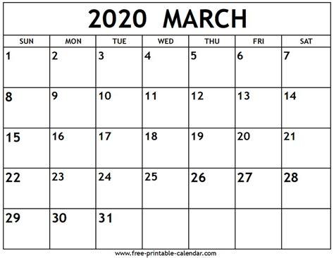 march calendar printable calendarcom