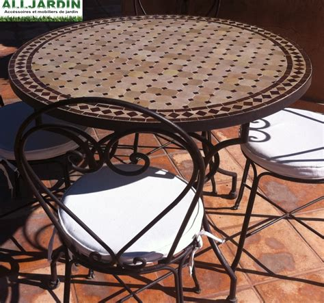 table de jardin en fer forg 233 mosaique