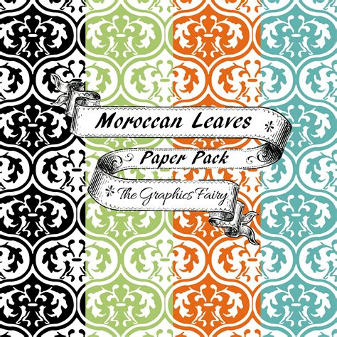 fruit print pen free scrapbook paper moroccan leaves the graphics