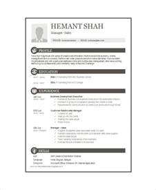 One Page Resume Sle Pdf by Single Page Resume Sle 28 Images One Page Resume Template Berathen Bank Resume Sales