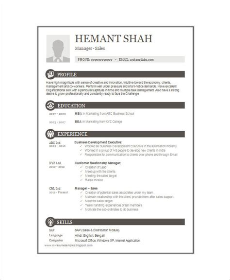 16 one page resume templates free premium templates