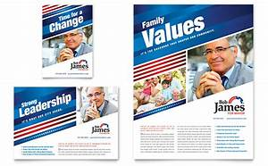 Political campaign flyer ad template design for Campaign literature templates