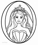 Barbie Face Drawing Coloring Pages Princess Print Clipartmag sketch template