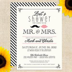 6 best images of free printable bridal shower wedding With couples wedding shower invitations