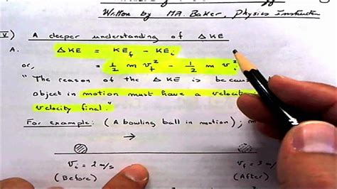 This is often expressed as the work kinetic energy theorem. Work = Change in Kinetic Energy and proof 1112011 - YouTube