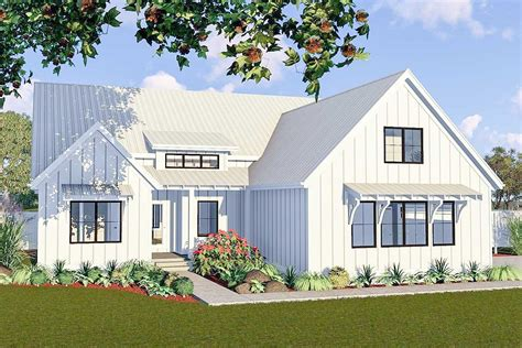 One-story 3-bed Modern Farmhouse Plan