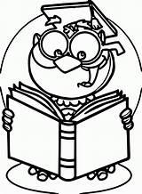 Coloring Read Owl Popular sketch template