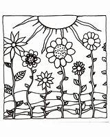 Coloring Sunset Sun Sunsets Flowers Printables Drawing Printable Drawn Colored Examples Papers Hills Pencils Shown Template Adult Sheets Colorful Pinceladas sketch template