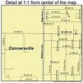 Connersville Indiana Street Map 1814932