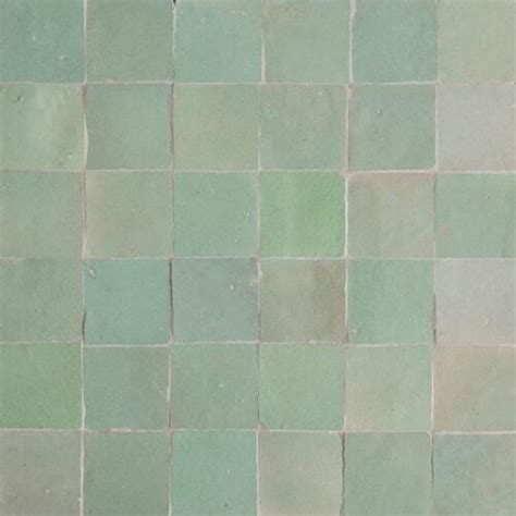 Mint Green Moroccan Tile   Mint Green Zellige