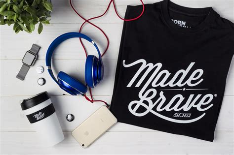 shirt flat lay photography  madebrave featuring