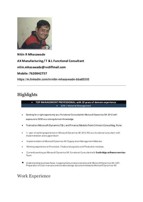 nitin ax resume
