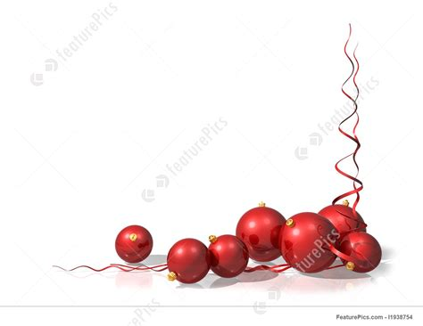 red christmas decorations illustration