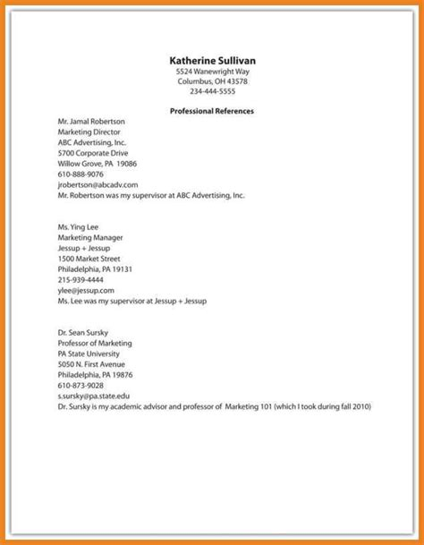 Resume Reference Template by 12 13 List Of References Template Word Lascazuelasphilly