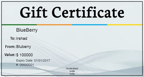 business gift certificate template gift certificate template 34 free word outlook pdf indesign format free