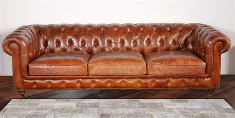 leather chesterfield sofa pasargad chester bay tufted genuine leather chesterfield