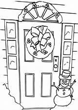 Door Coloring Pages Door4 Coloringway sketch template