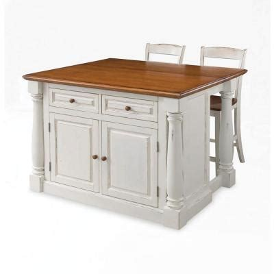 kitchen islands home depot home styles monarch kitchen island in white with oak top