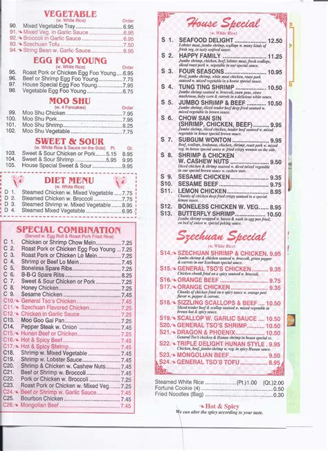 China Moon Sinking Menu by Spicy