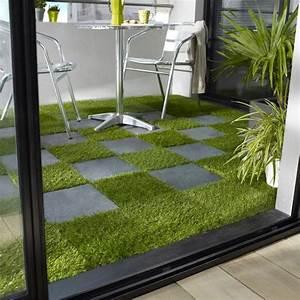Dalle Terrasse Clipsable : dalle balcon clipsable imitation gazon castorama cour ~ Melissatoandfro.com Idées de Décoration