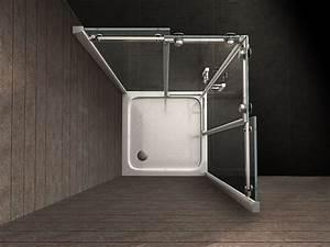 Paroi De Douche D Angle 80x80 : paroi de douche d 39 angle 80 x80 cm avec portes coulissantes ~ Edinachiropracticcenter.com Idées de Décoration