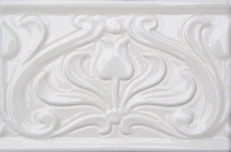 embossed tulip border tile fireplace store