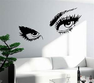 wall sticker sexy hot eyes girl teen woman big decal for With teenage girl wall decals ideas