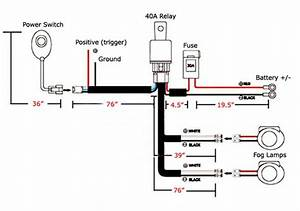 universal relay harness wire kit led on off switch for With round led trailer lights wiring diagram free download wiring diagram