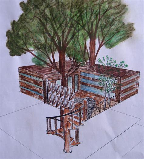 comment dessiner une cabane cabane dans les arbres ang 233 lique g s