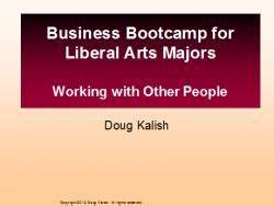 Business Bootcamp for Liberal Arts Majors (pdf) | dougsguides