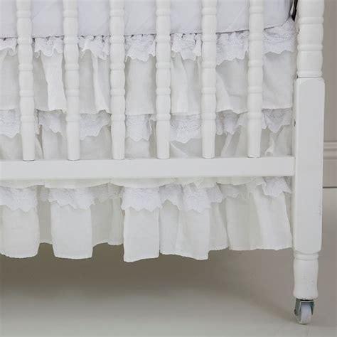 shabby chic crib skirt shabby chic couture baby crib skirt petticoat white rachel ashwell shabby chic couture