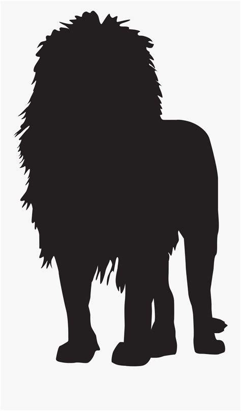 transparent lion clipart lion silhouette  background