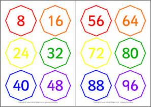 skip counting by 8 cards
