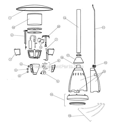 patio heater parts coleman 5040b750 parts list and diagram