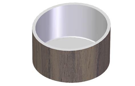 Corian Wood Freestanding Bathtub In Wood And Corian 174 Graff