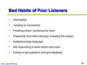 Bad Communication Skills Examples
