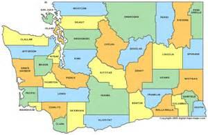 Washington County Map - WA Counties - Map of Washington Washington