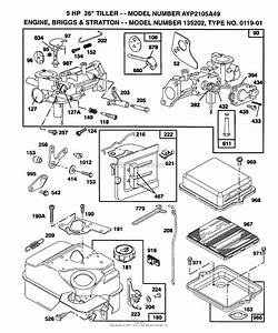 Ayp  Electrolux Ayp2105a49  1994  Parts Diagram For B U0026s Engine 135202 Type 0119