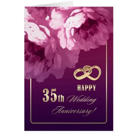 buy 35th birthday wedding anniversary 35th wedding anniversary greeting cards zazzle