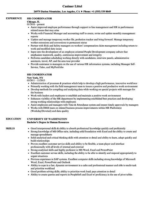 Hr Coordinator Cv by Human Resource Coordinator Resume Sle Bijeefopijburg Nl