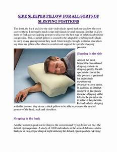 side sleeper pillow for all sorts of sleeping positions With best pillow for all sleep positions