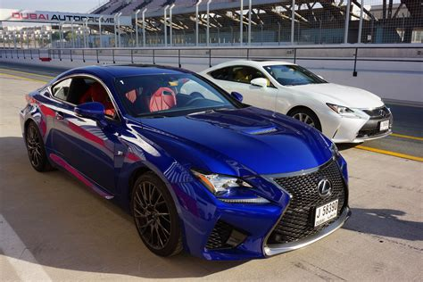 lexus rcf blue lexus rc and rcf testdrive at dubai autodrome