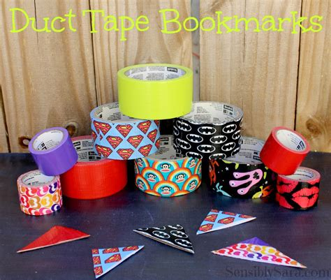 Craft Ideas For Kitchen - duct tape bookmarks easy to make craft
