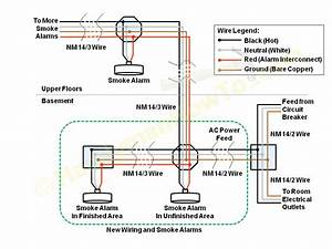 Hard Wiring Smoke Detectors Diagram