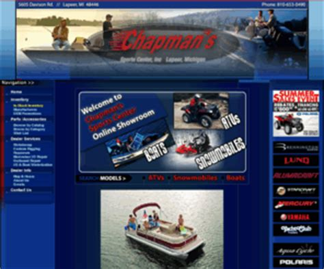 Boat Motor Repair Escanaba Mi by Chapmanssports Lapeer Michigan Boats Atv