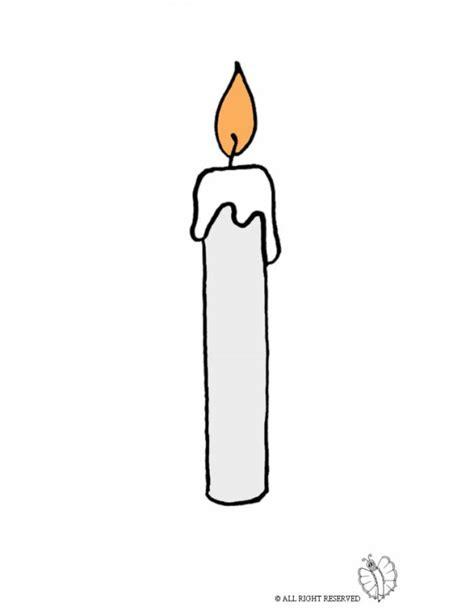 candela accesa disegno di candela accesa a colori per bambini