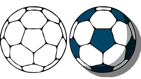 How To Draw A Cartoon Soccer Ball